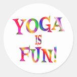 Yoga is Fun Stickers