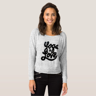 yoga is love t-shirt