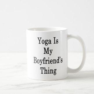 Yoga Is My Boyfriend's Thing Coffee Mug