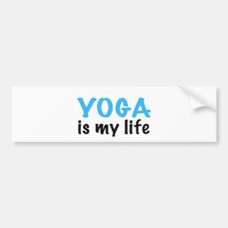 YOGA is my life Bumper Sticker