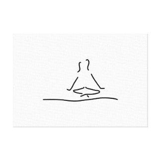 yoga joga meditation canvas prints