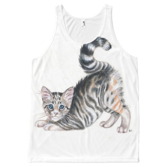 yoga kitten All-Over-Print tank top
