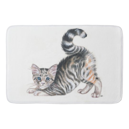 yoga kitten bath mat