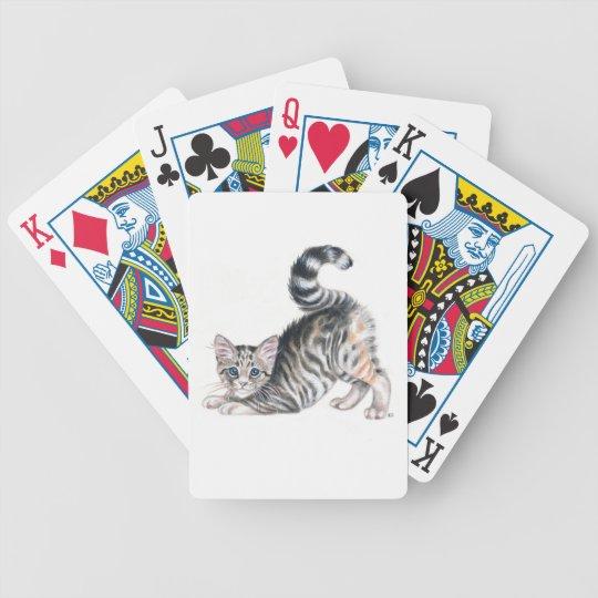 yoga kitten bicycle playing cards