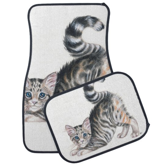 yoga kitten car mat