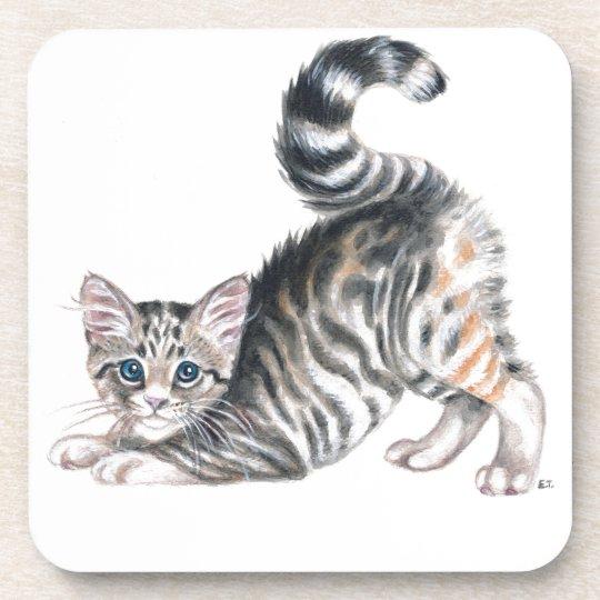 yoga kitten coaster