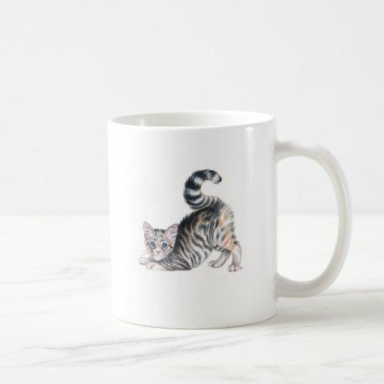 yoga kitten coffee mug