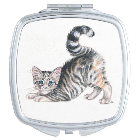 yoga kitten compact mirror