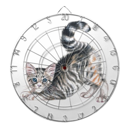 yoga kitten dartboard