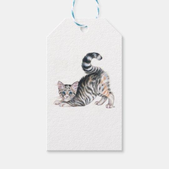 yoga kitten gift tags
