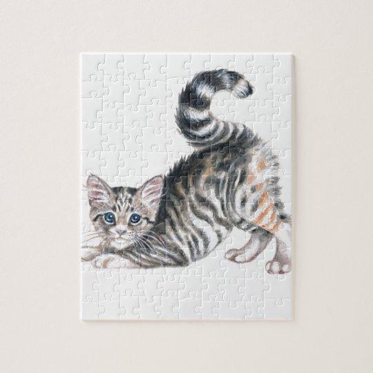 yoga kitten jigsaw puzzle