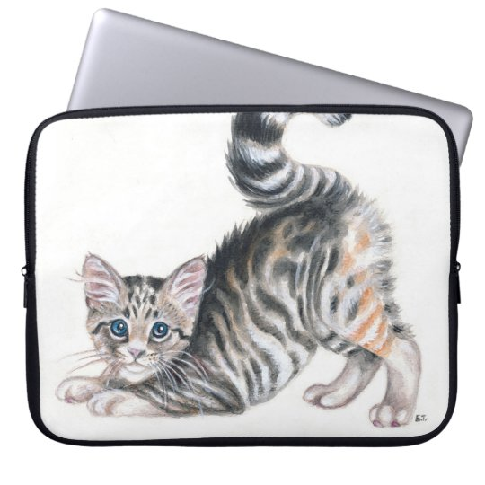 yoga kitten laptop sleeve