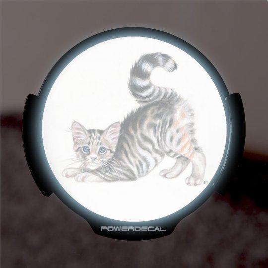yoga kitten LED window decal