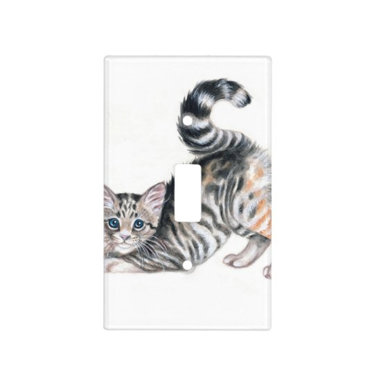 yoga kitten light switch cover