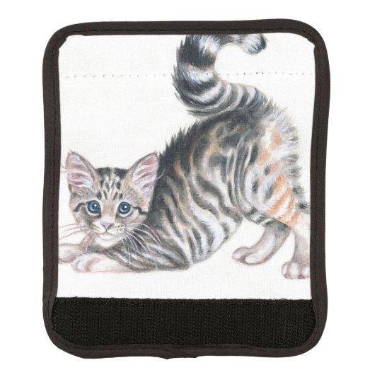 yoga kitten luggage handle wrap