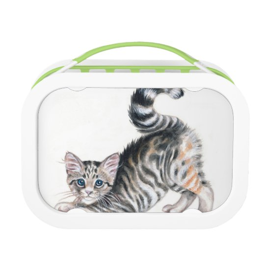 yoga kitten lunch box
