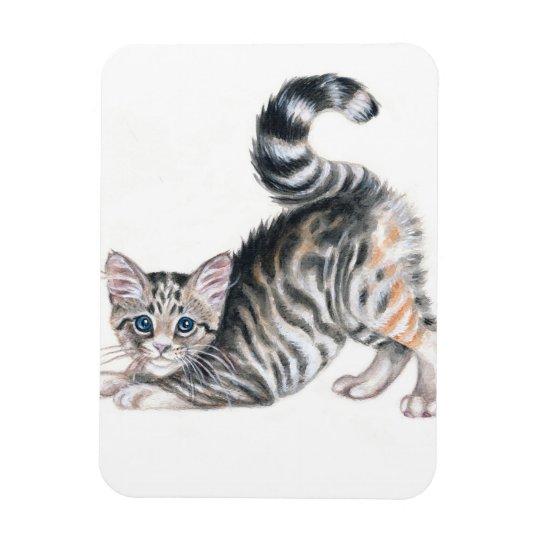yoga kitten magnet