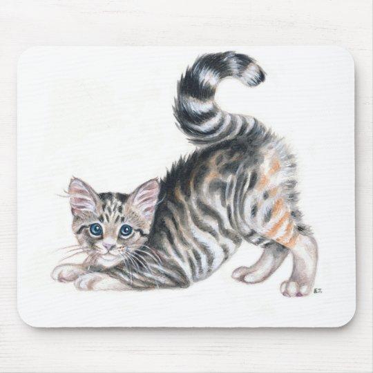 yoga kitten mouse pad