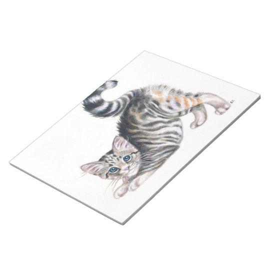yoga kitten notepad
