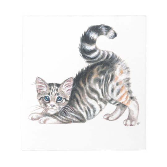 yoga kitten notepad