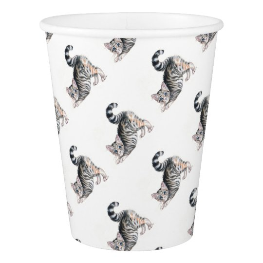yoga kitten paper cup