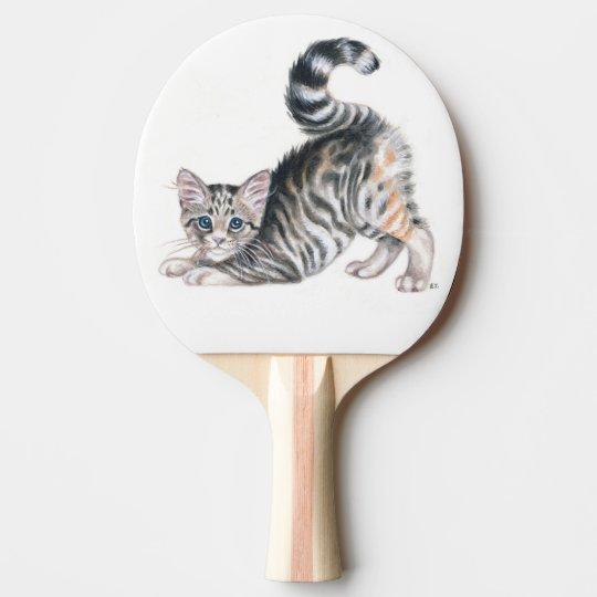 yoga kitten ping pong paddle