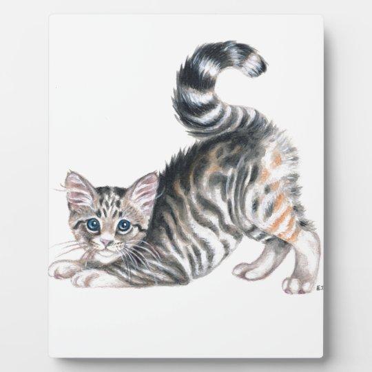 yoga kitten plaque