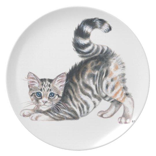yoga kitten plate