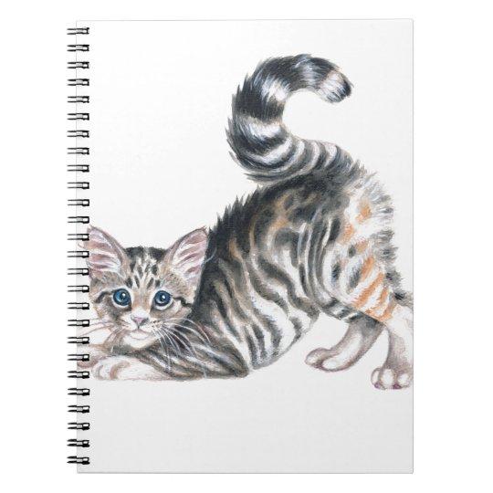 yoga kitten spiral notebook