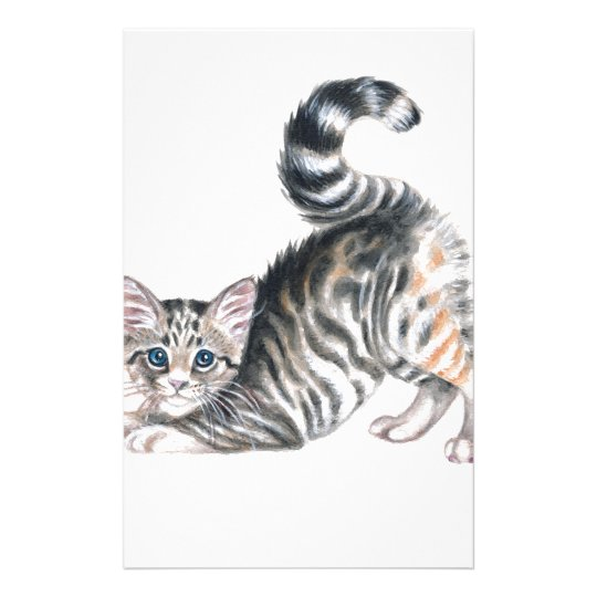 yoga kitten stationery