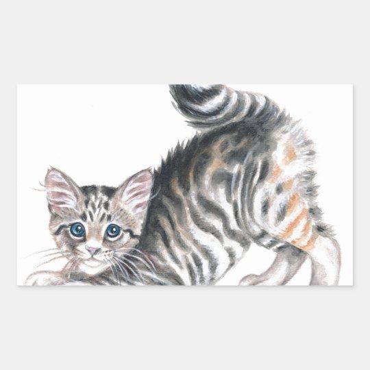 yoga kitten sticker