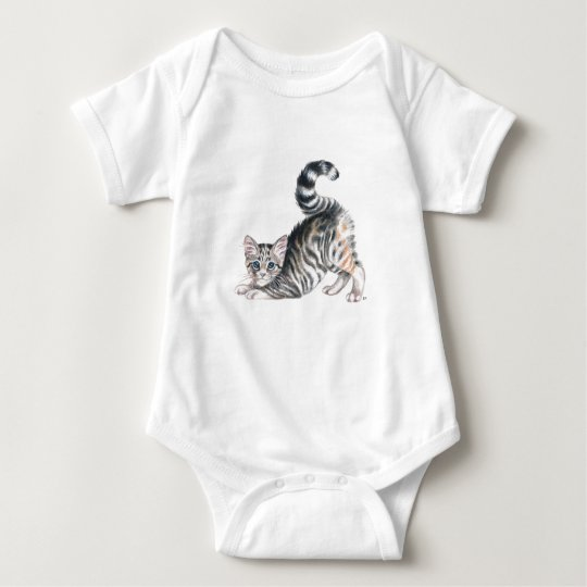 yoga kitten stretch baby bodysuit