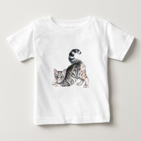 yoga kitten stretch baby T-Shirt