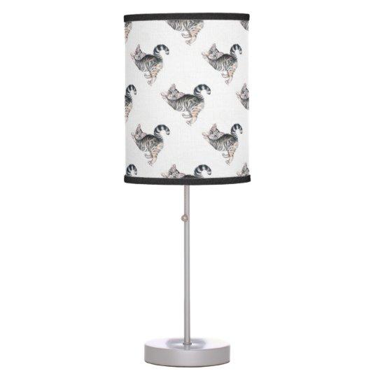 yoga kitten table lamp