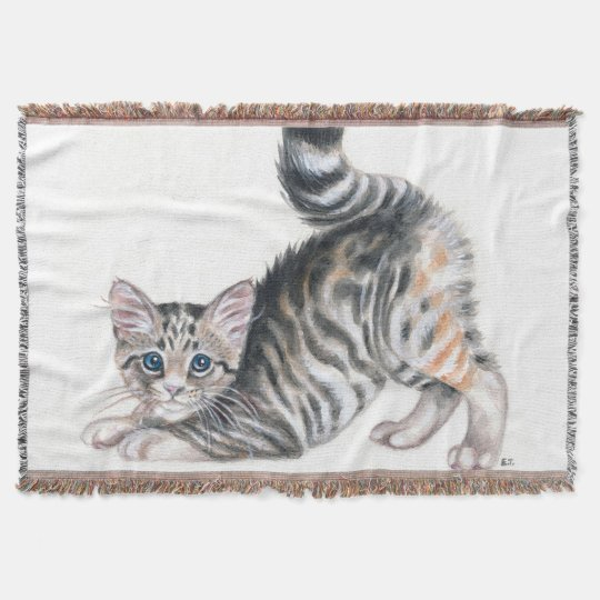 yoga kitten throw blanket