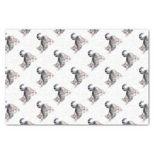 yoga kitten tissue paper