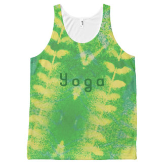 yoga leafy All-Over-Print tank top