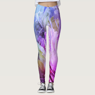 Yoga Leggings with Whimsical Floral Design