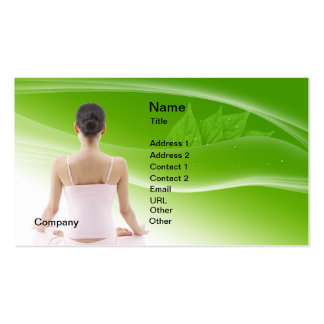 Yoga Lesson Instructor Pack Of Standard Business Cards