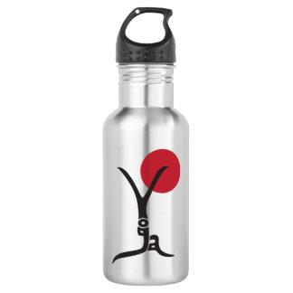Yoga Lettering Silver Water Bottle