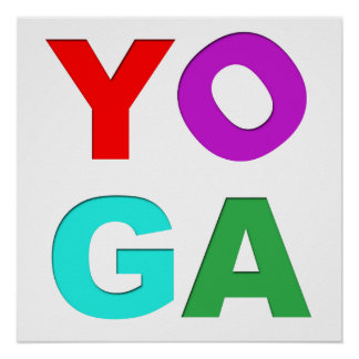 Yoga letters poster