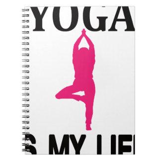 YOGA LIFE design cute Spiral Notebook