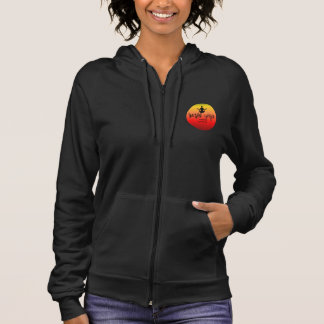 Yoga Logo Zip Hoodie Black Orange Yellow