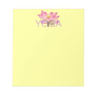 yoga lotus notepad