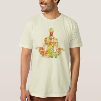 Yoga Lotus Pose (Male) Word Cloud Organic T-shirt