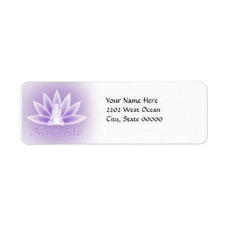 Yoga Lotus Woman Flower Violet Return Address