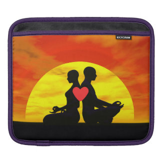 Yoga love - 3D render iPad Sleeve