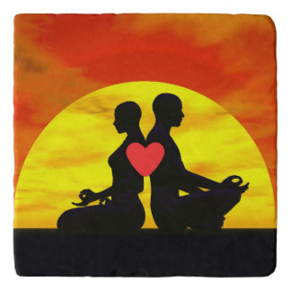 Yoga love - 3D render Trivet