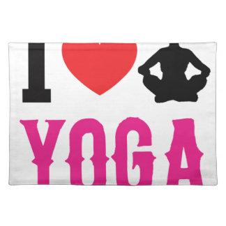 yoga love girl cute placemat
