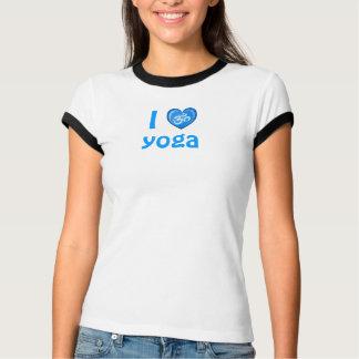 Yoga Love Heart Om Blue T-Shirt
